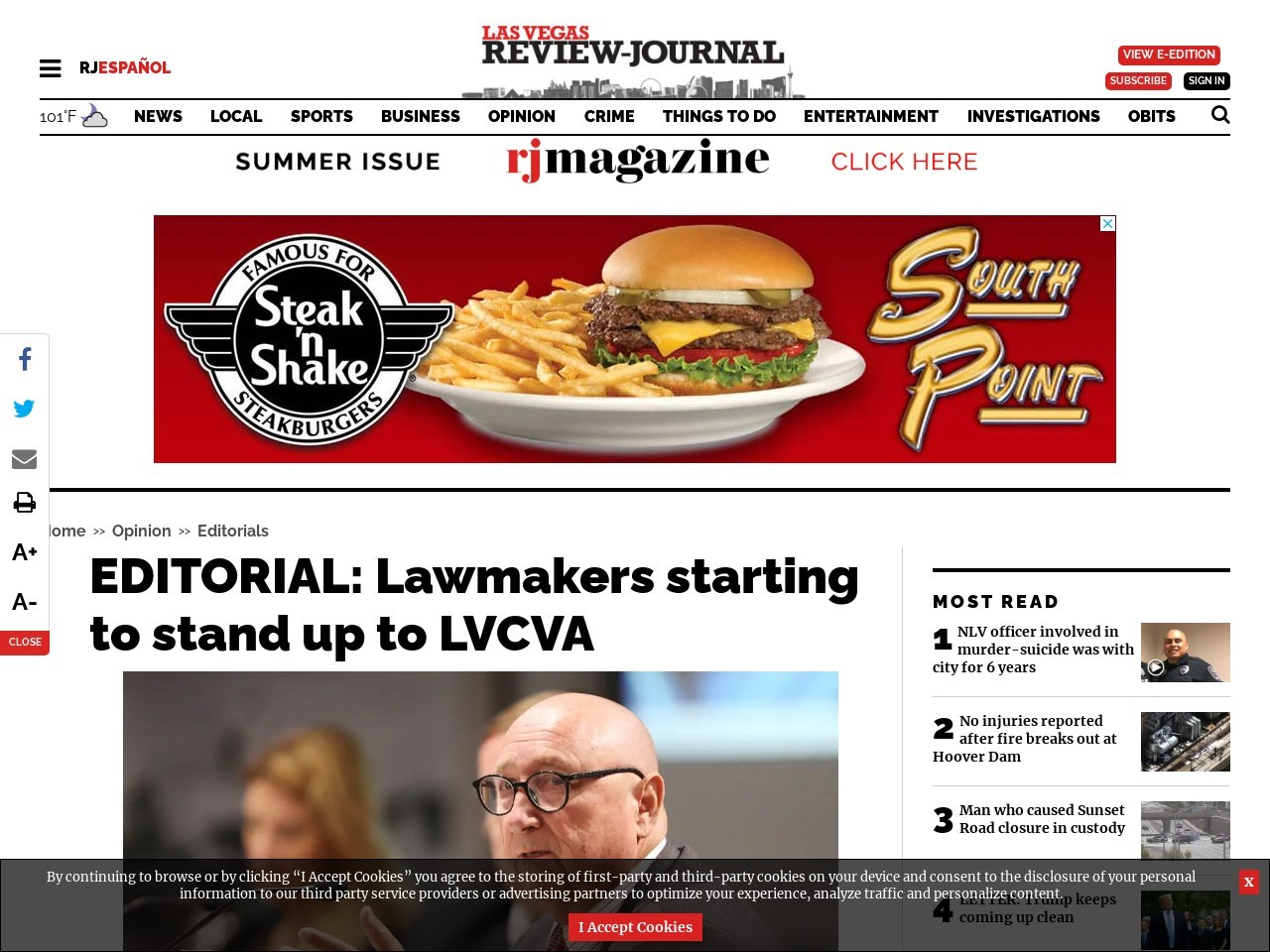 EDITORIAL: Lawmakers starting to stand up to LVCVA