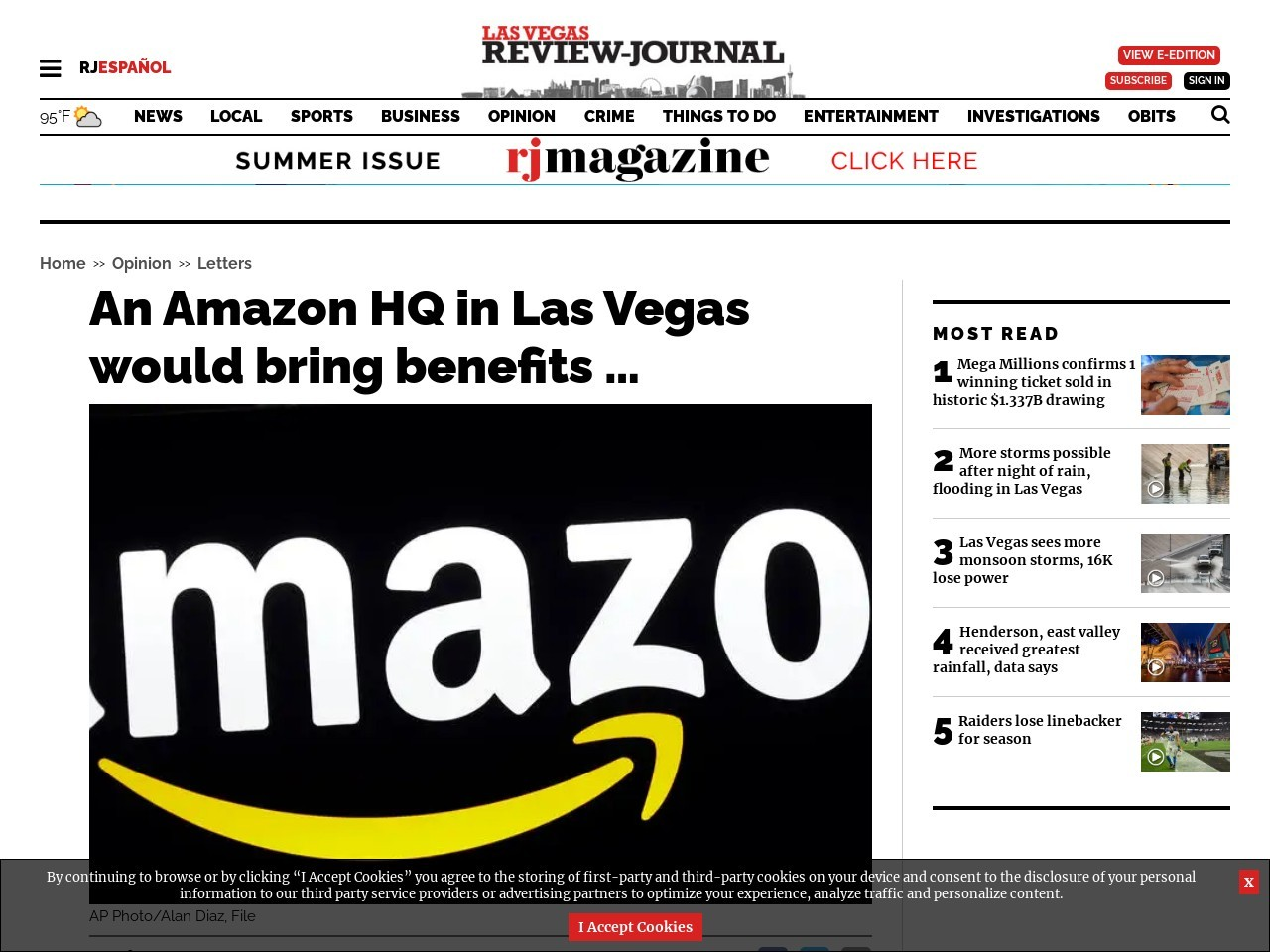 An Amazon HQ in Las Vegas would bring benefits …