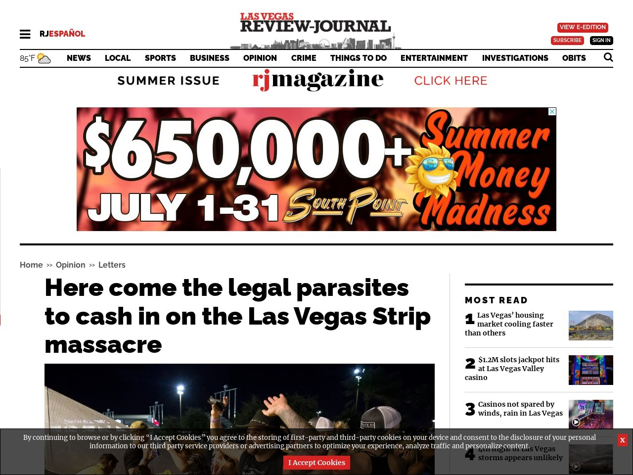 Here come the legal parasites to cash in on the Las Vegas Strip massacre