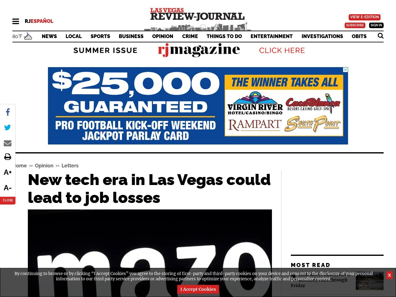 New tech era in Las Vegas could lead to job losses