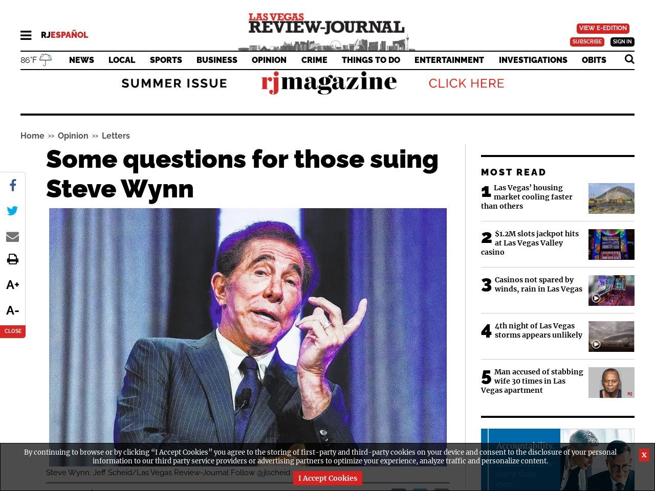Some questions for those suing Steve Wynn