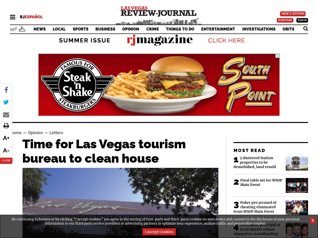 Time for Las Vegas tourism bureau to clean house