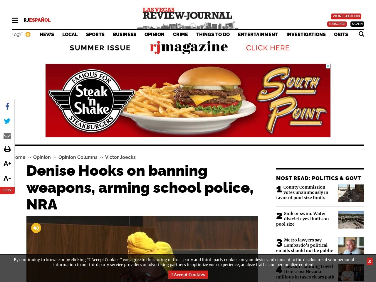 Denise Hooks on banning weapons, arming school police, NRA
