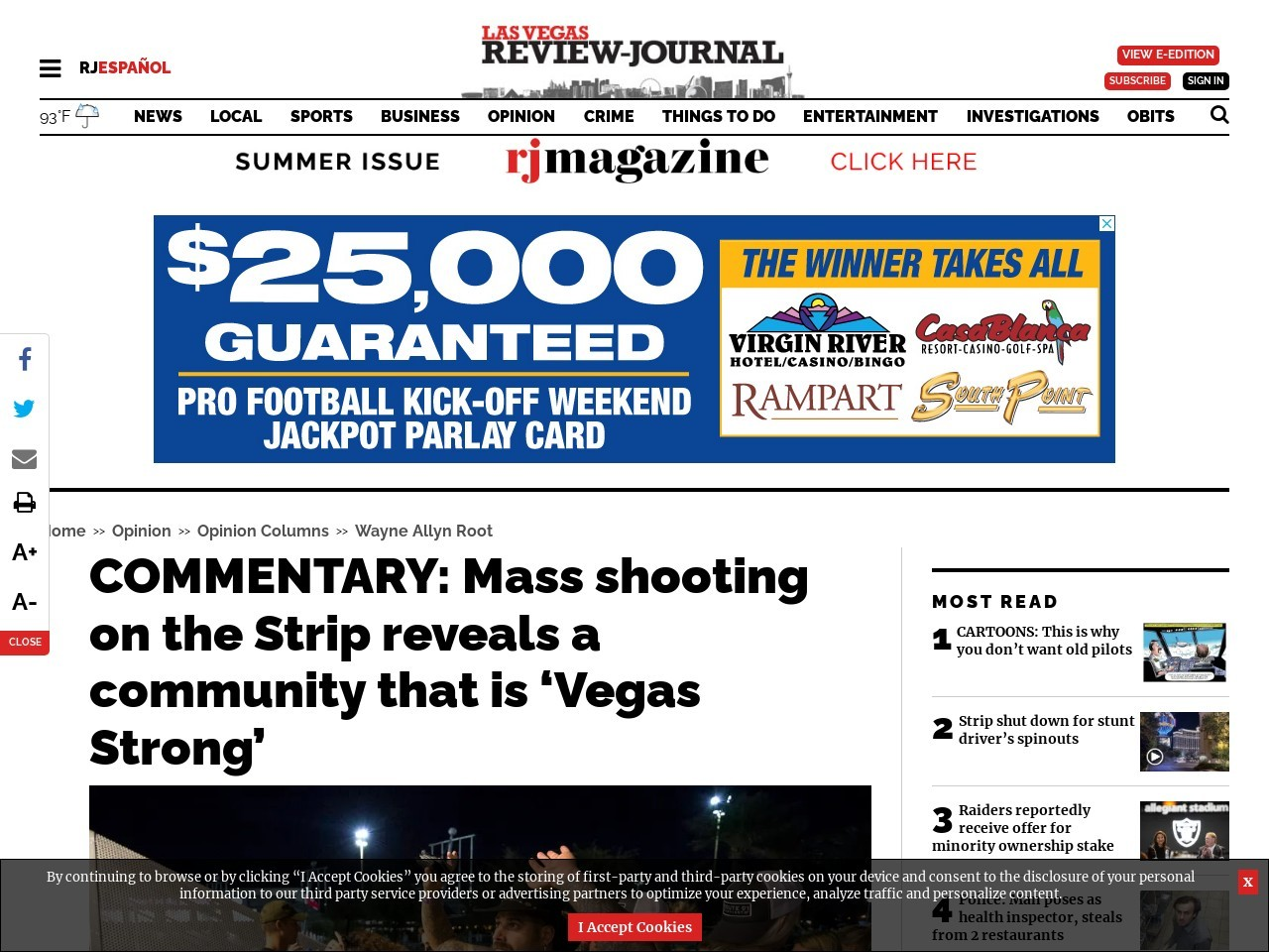 COMMENTARY: Mass shooting on the Strip reveals a community that is 'Vegas Strong'