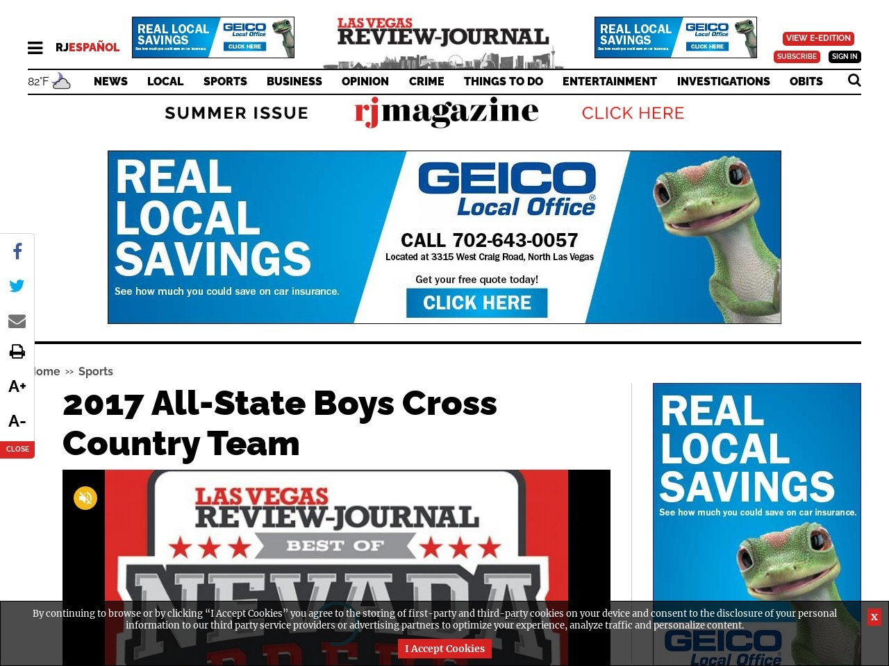 2017 All-State Boys Cross Country Team