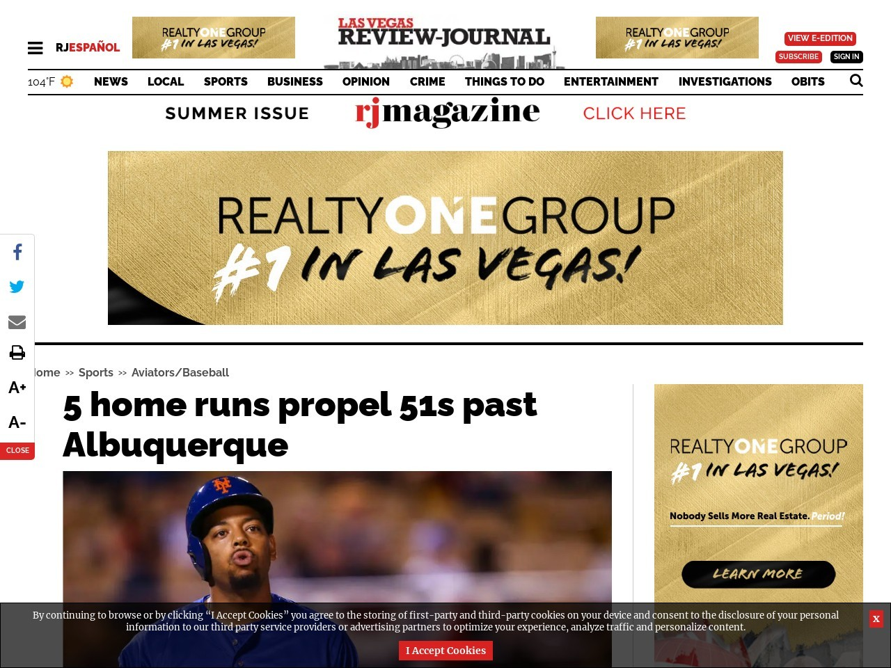 5 home runs propel 51s past Albuquerque