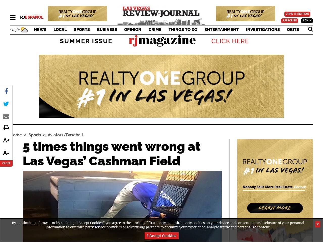 5 times things went wrong at Las Vegas' Cashman Field