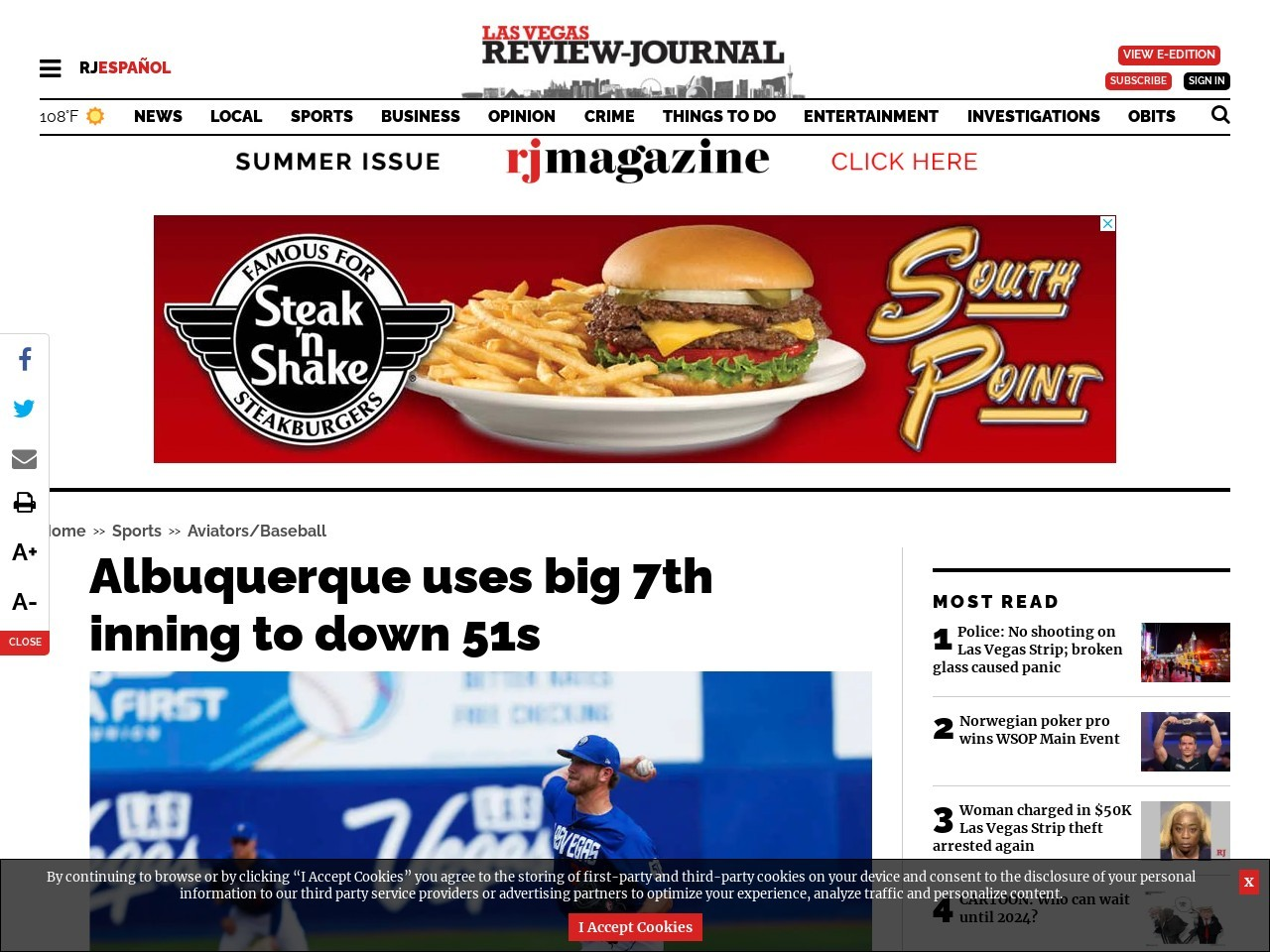 Albuquerque uses big 7th inning to down 51s
