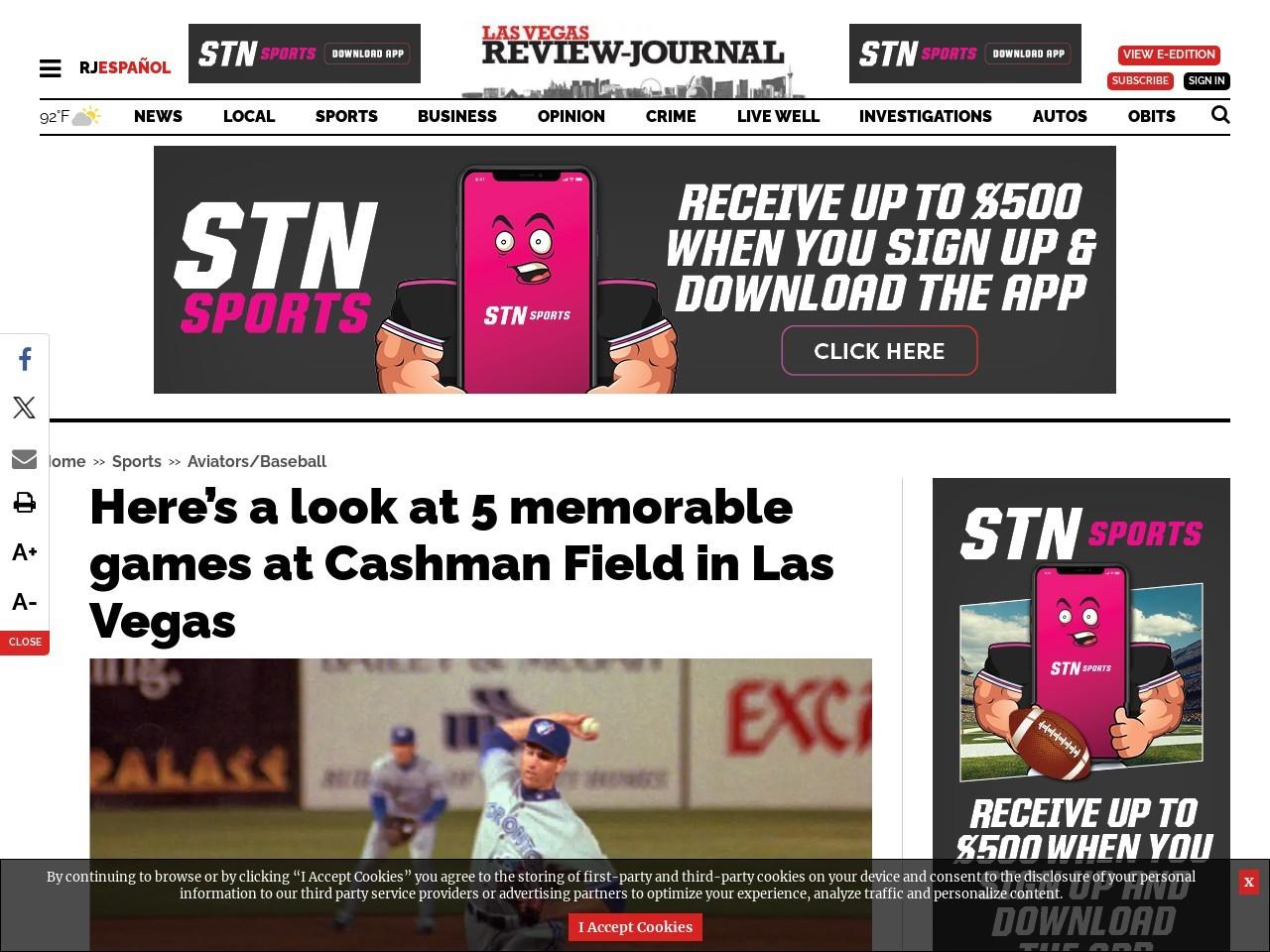 Here's a look at 5 memorable games at Cashman Field in Las Vegas
