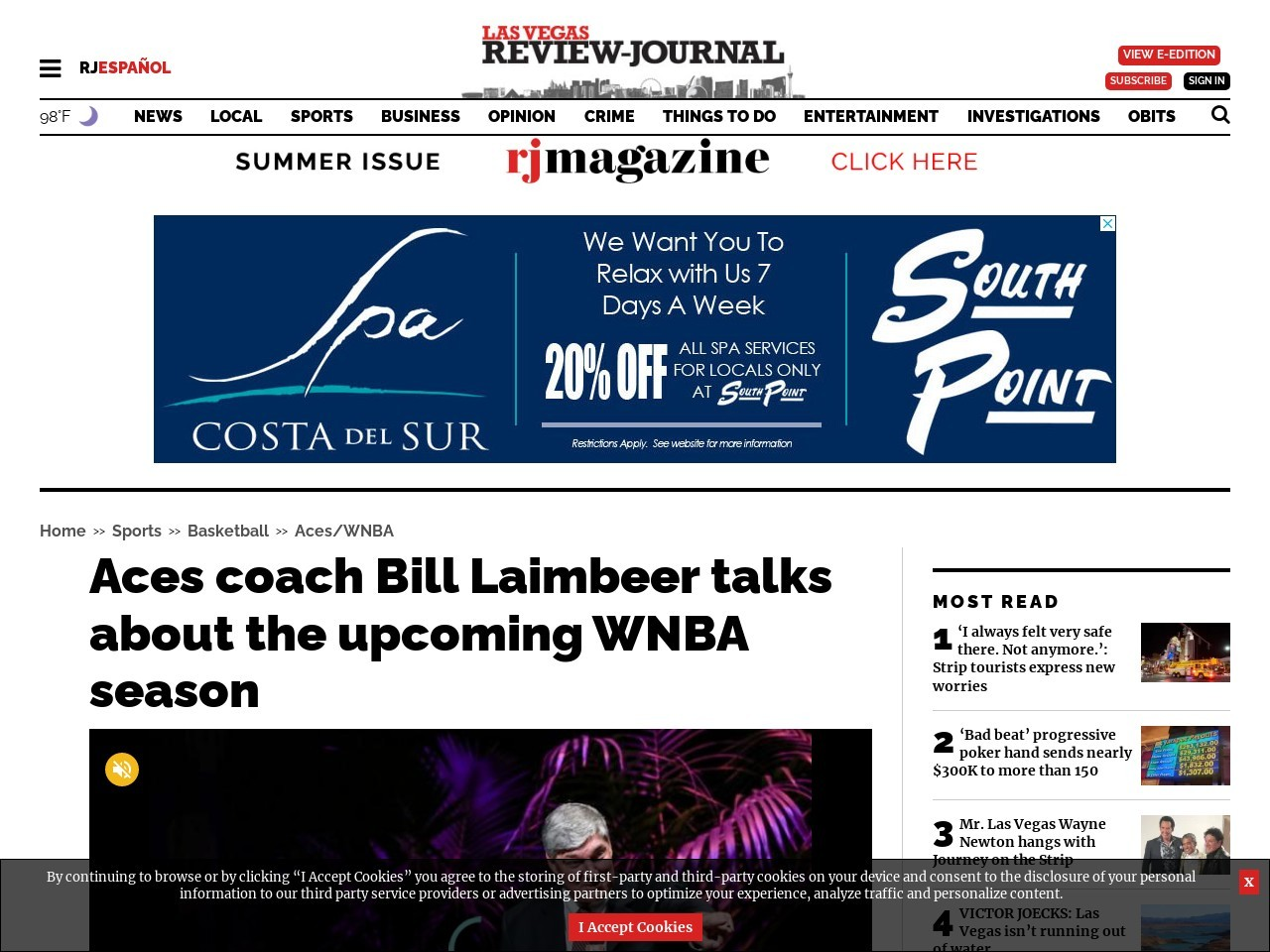 Aces coach Bill Laimbeer talks about the upcoming WNBA season