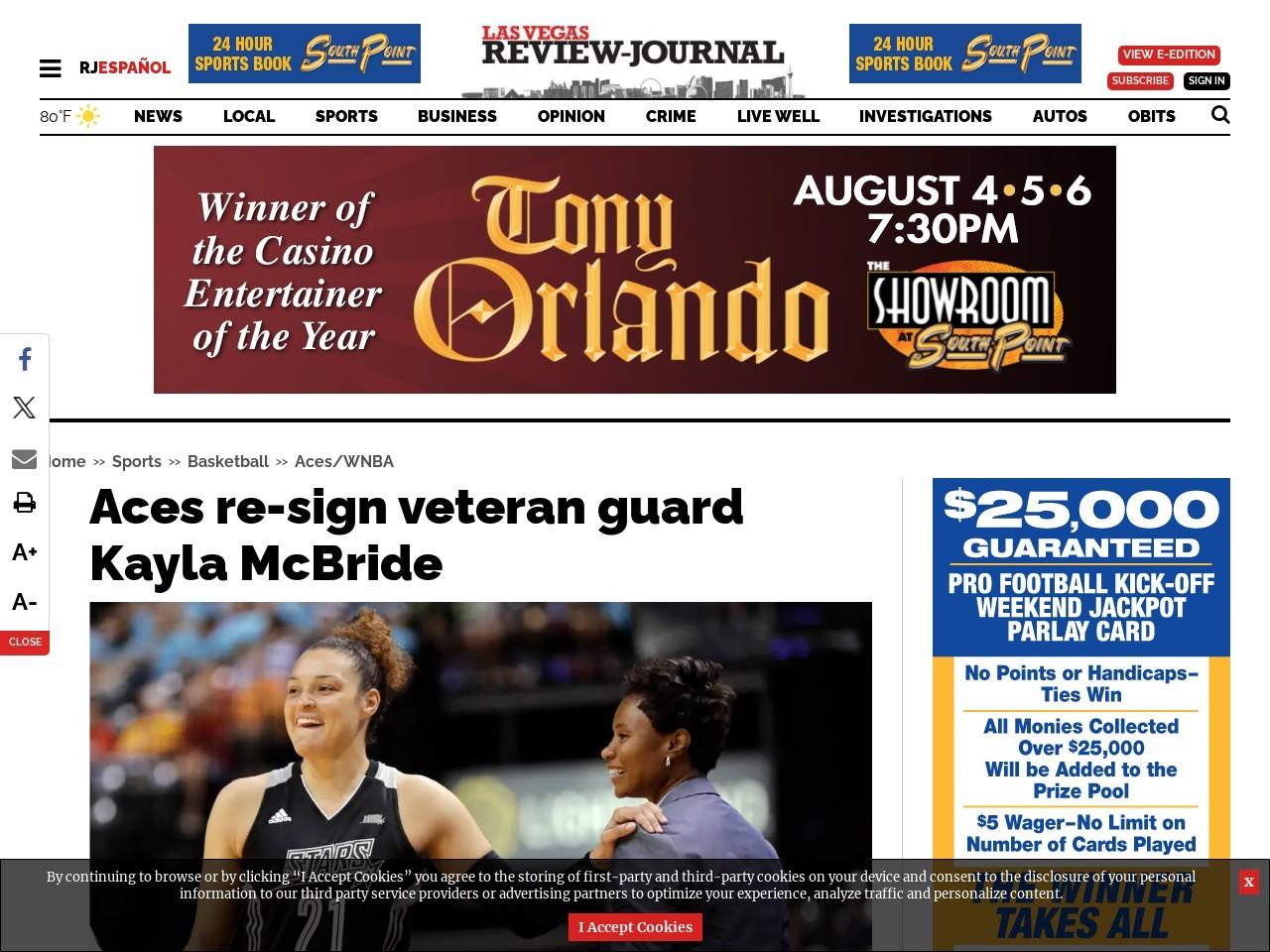 Aces re-sign veteran guard Kayla McBride