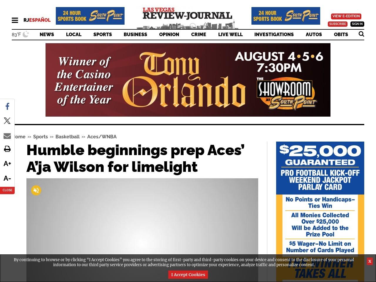 Humble beginnings prep Aces' A'ja Wilson for limelight
