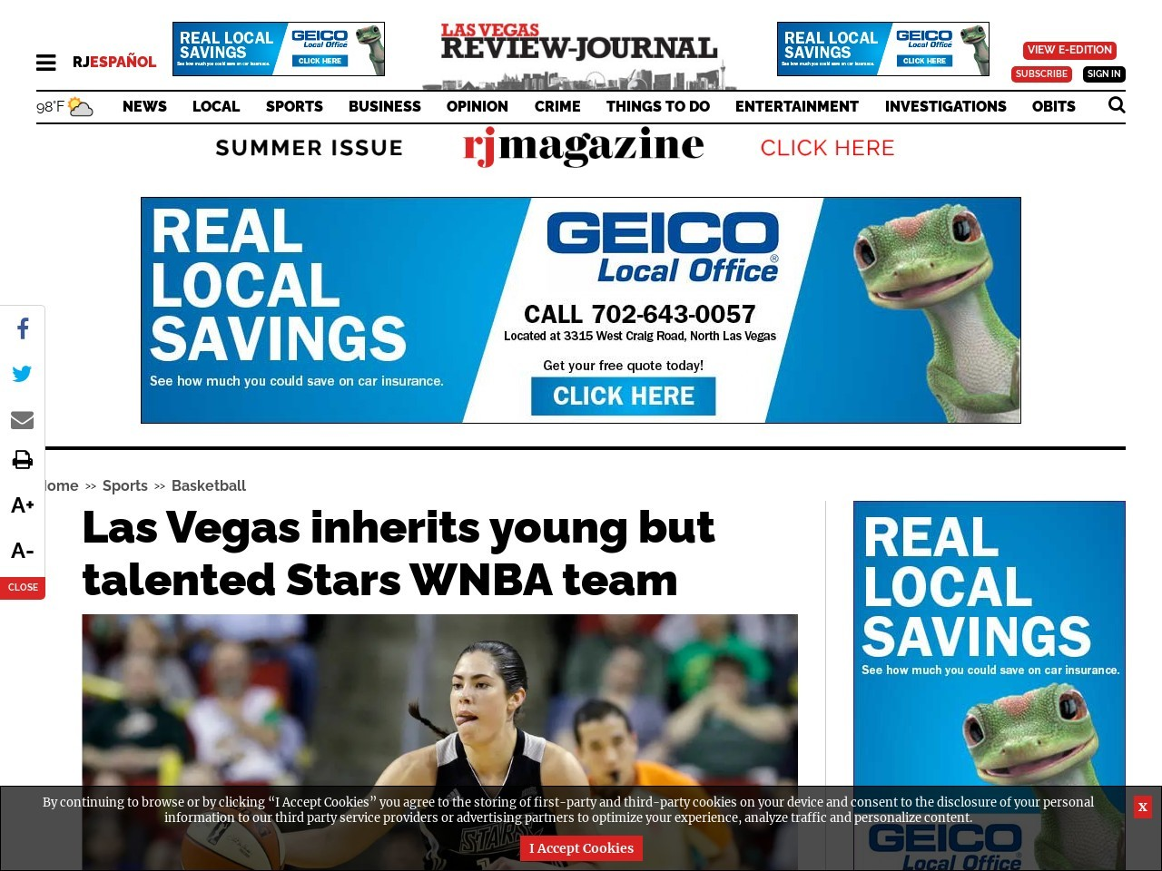 Las Vegas inherits young but talented Stars WNBA team