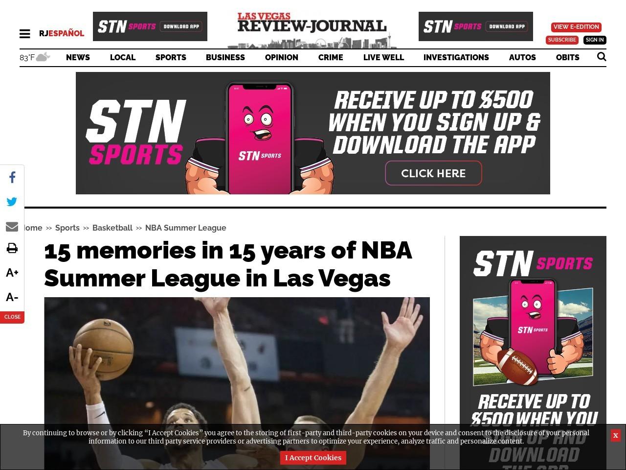 15 memories in 15 years of NBA Summer League in Las Vegas