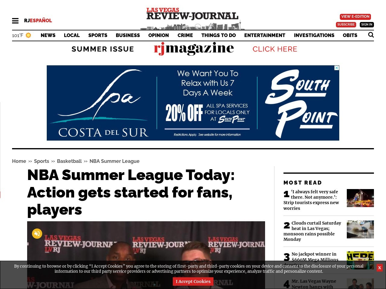 NBA Summer League Today: Action gets started for fans, players