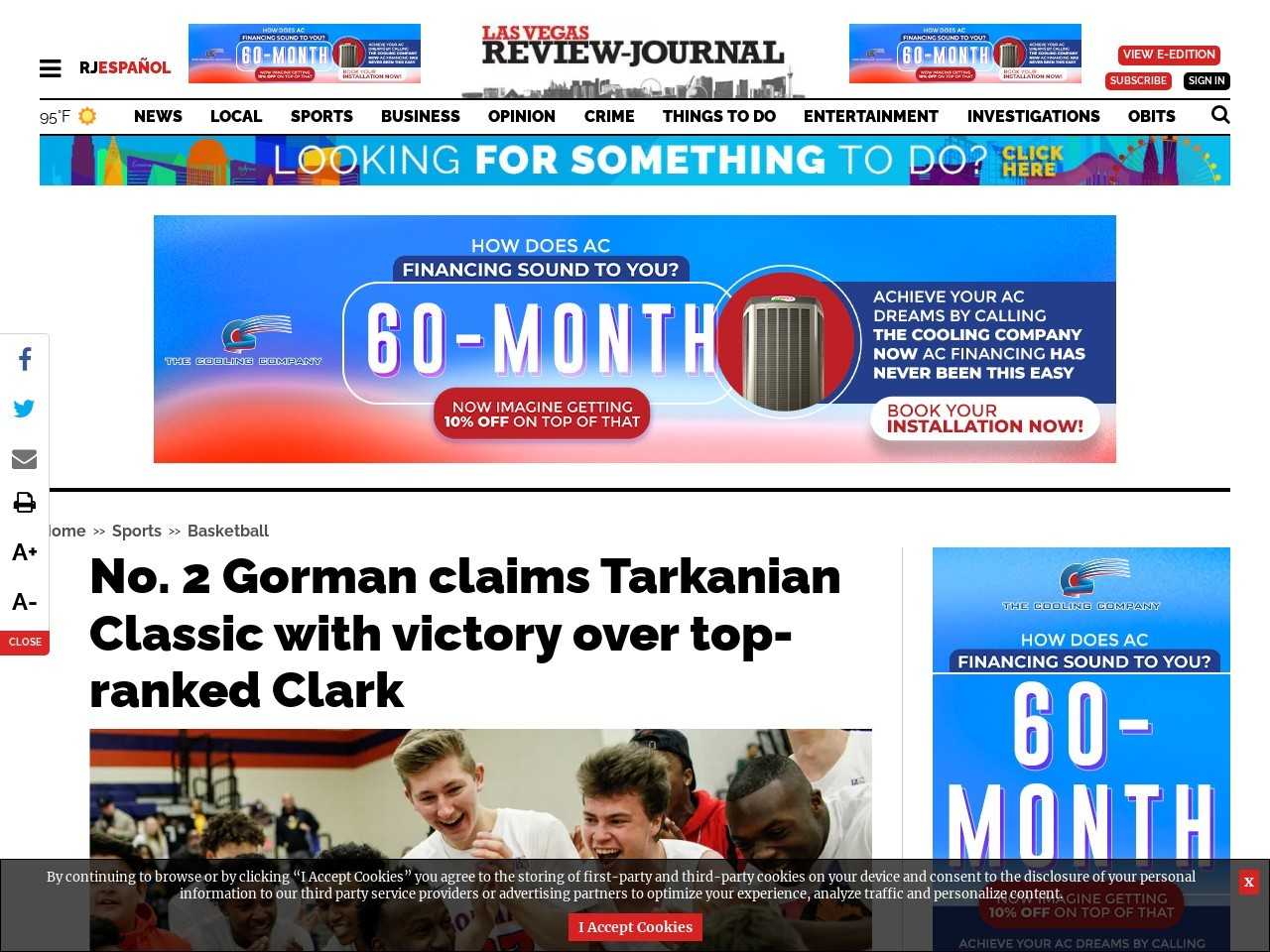 No. 2 Gorman claims Tarkanian Classic with victory over top-ranked Clark