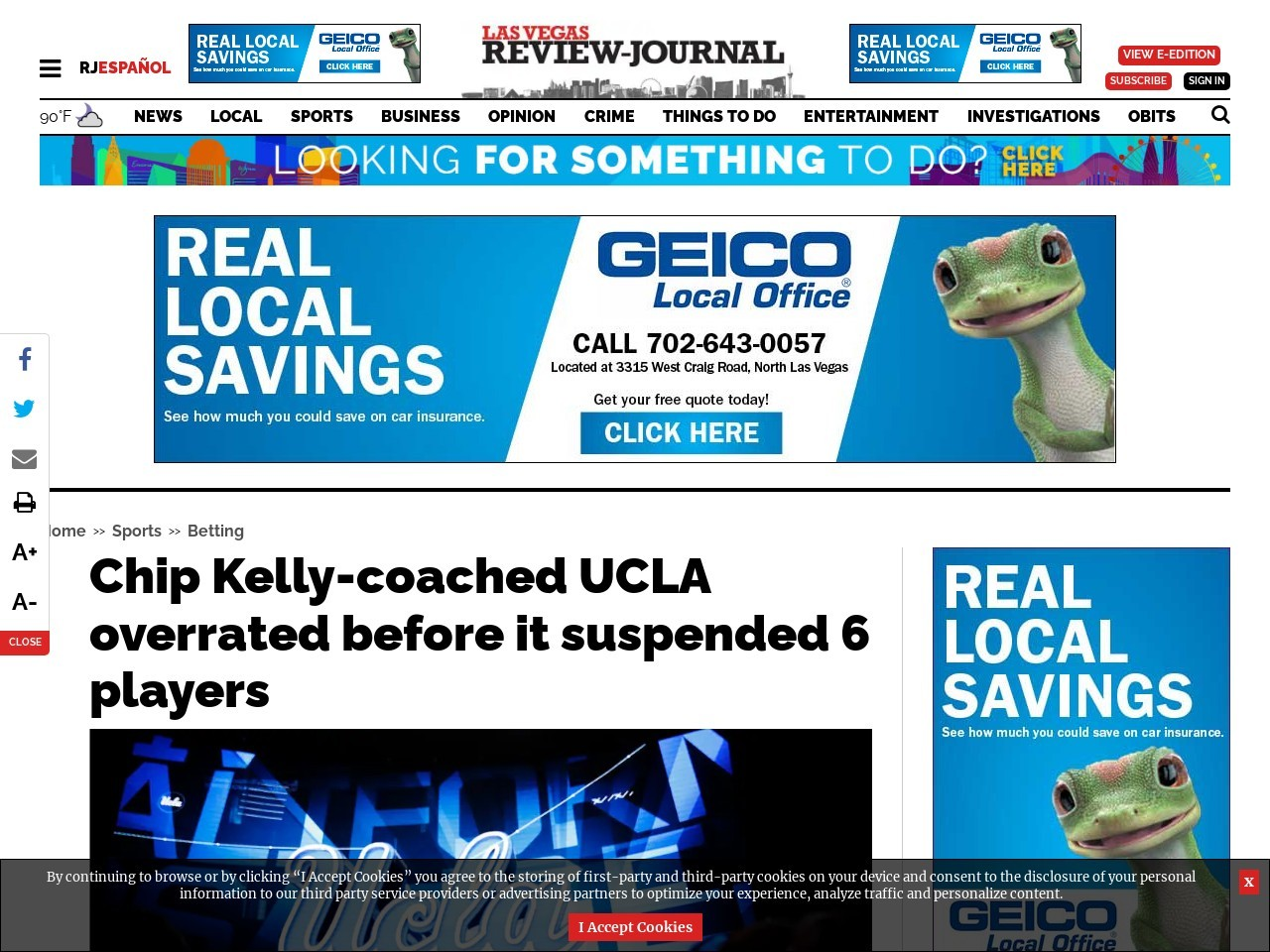 Chip Kelly-coached UCLA overrated before it suspended 6 players