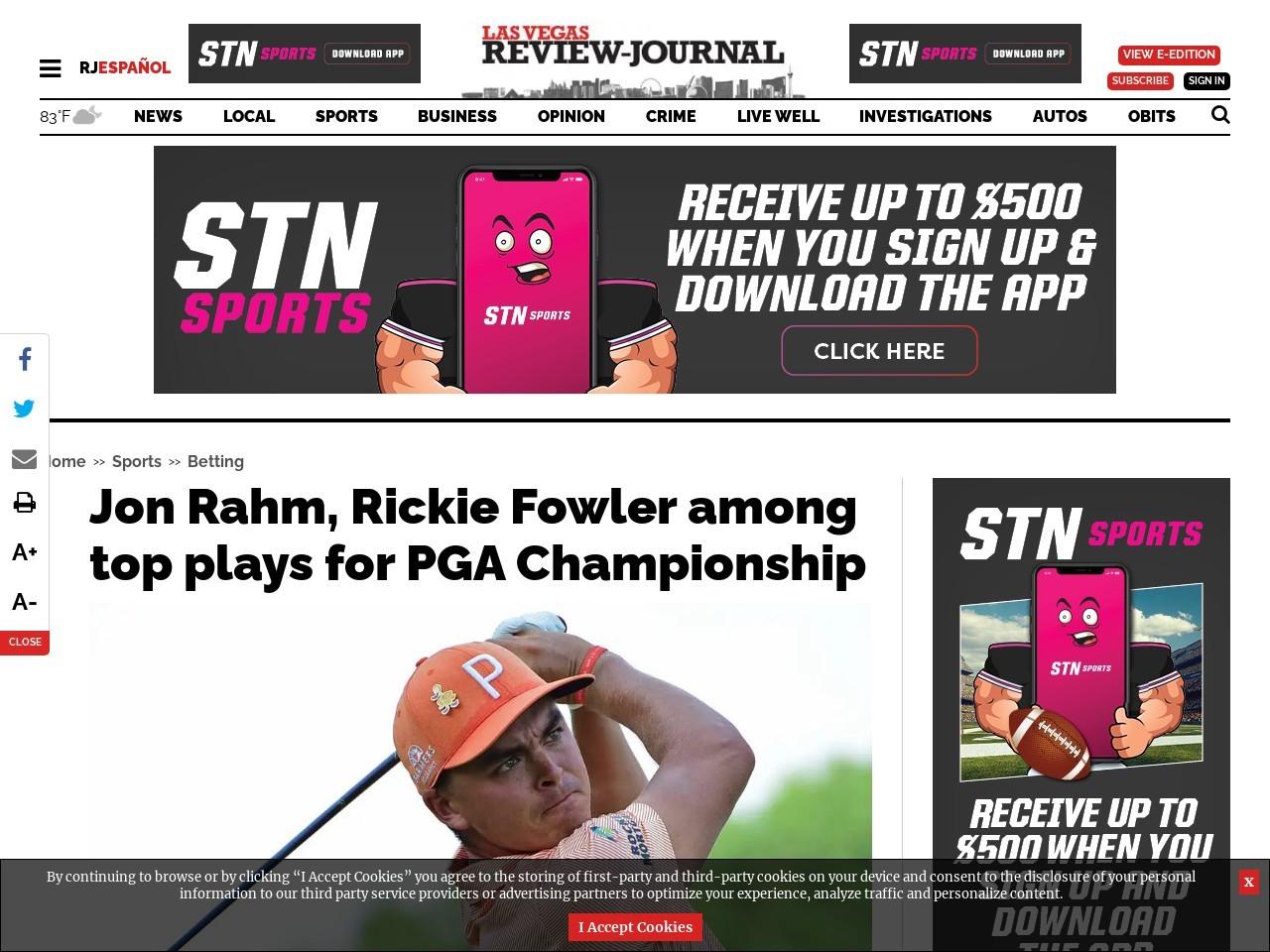 Jon Rahm, Rickie Fowler among top plays for PGA Championship