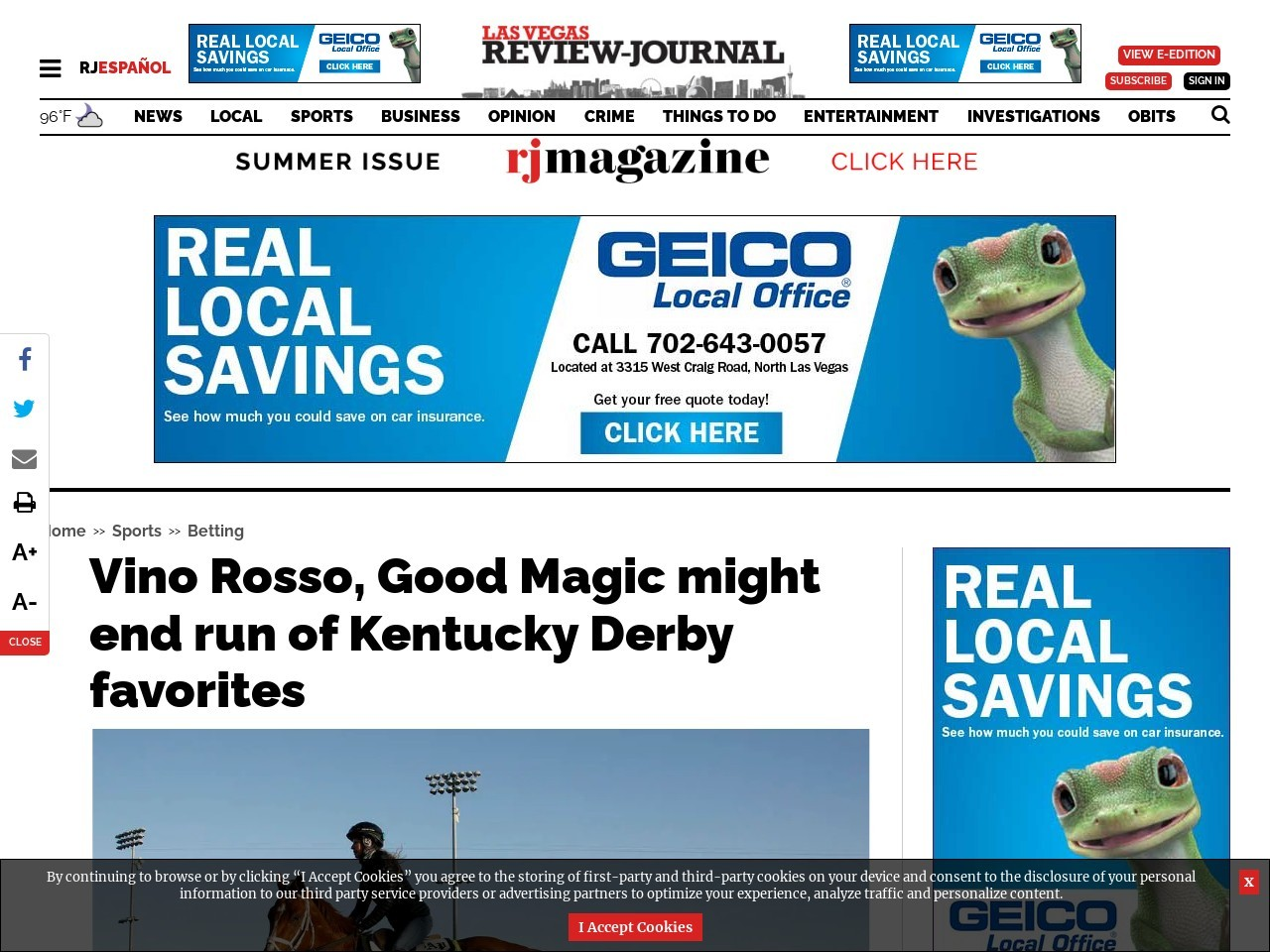 Vino Rosso, Good Magic might end run of Kentucky Derby favorites