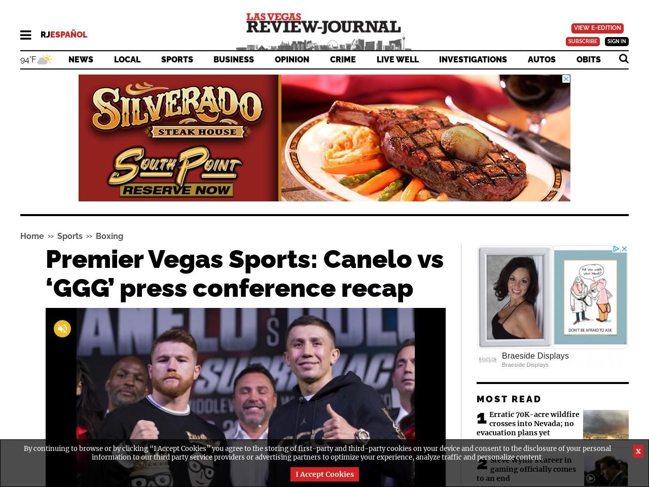 Premier Vegas Sports: Canelo vs 'GGG' press conference recap