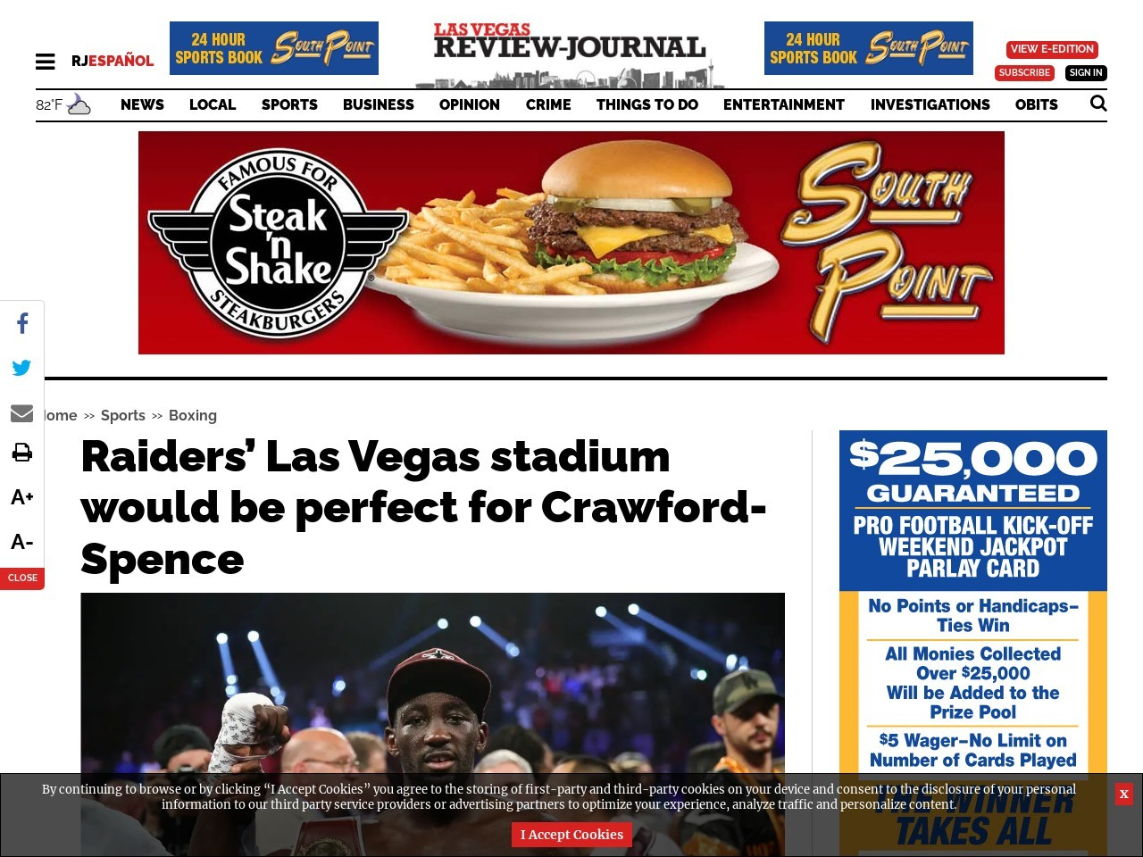 Raiders' Las Vegas stadium would be perfect for Crawford-Spence