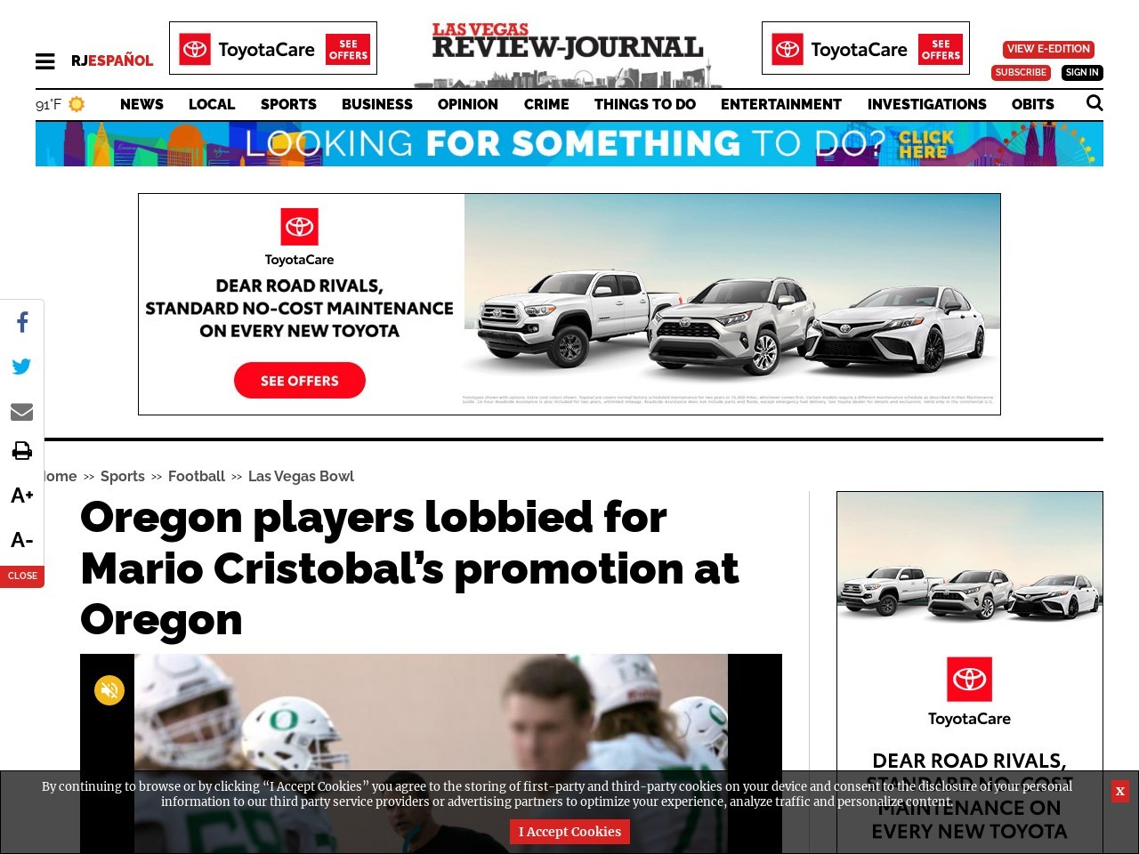 Oregon players lobbied for Mario Cristobal's promotion at Oregon