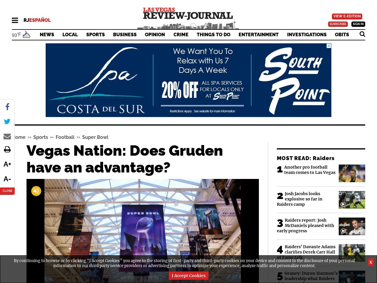 Vegas Nation: Does Gruden have an advantage?