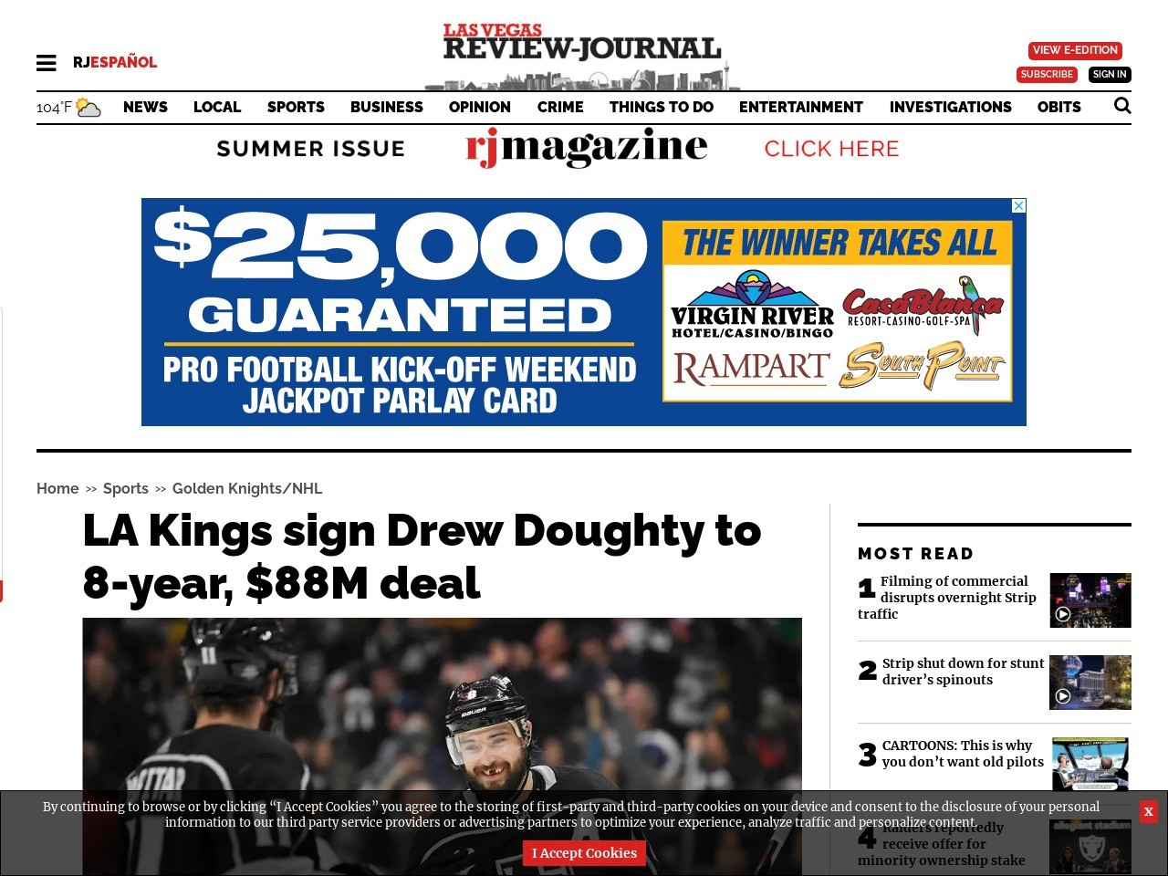 LA Kings sign Drew Doughty to 8-year, $88M deal