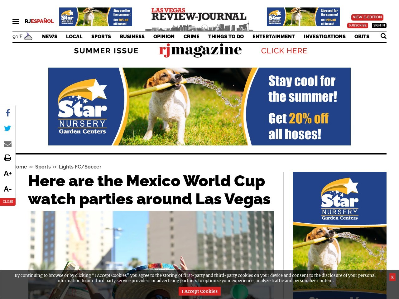 Here are the Mexico World Cup watch parties around Las Vegas