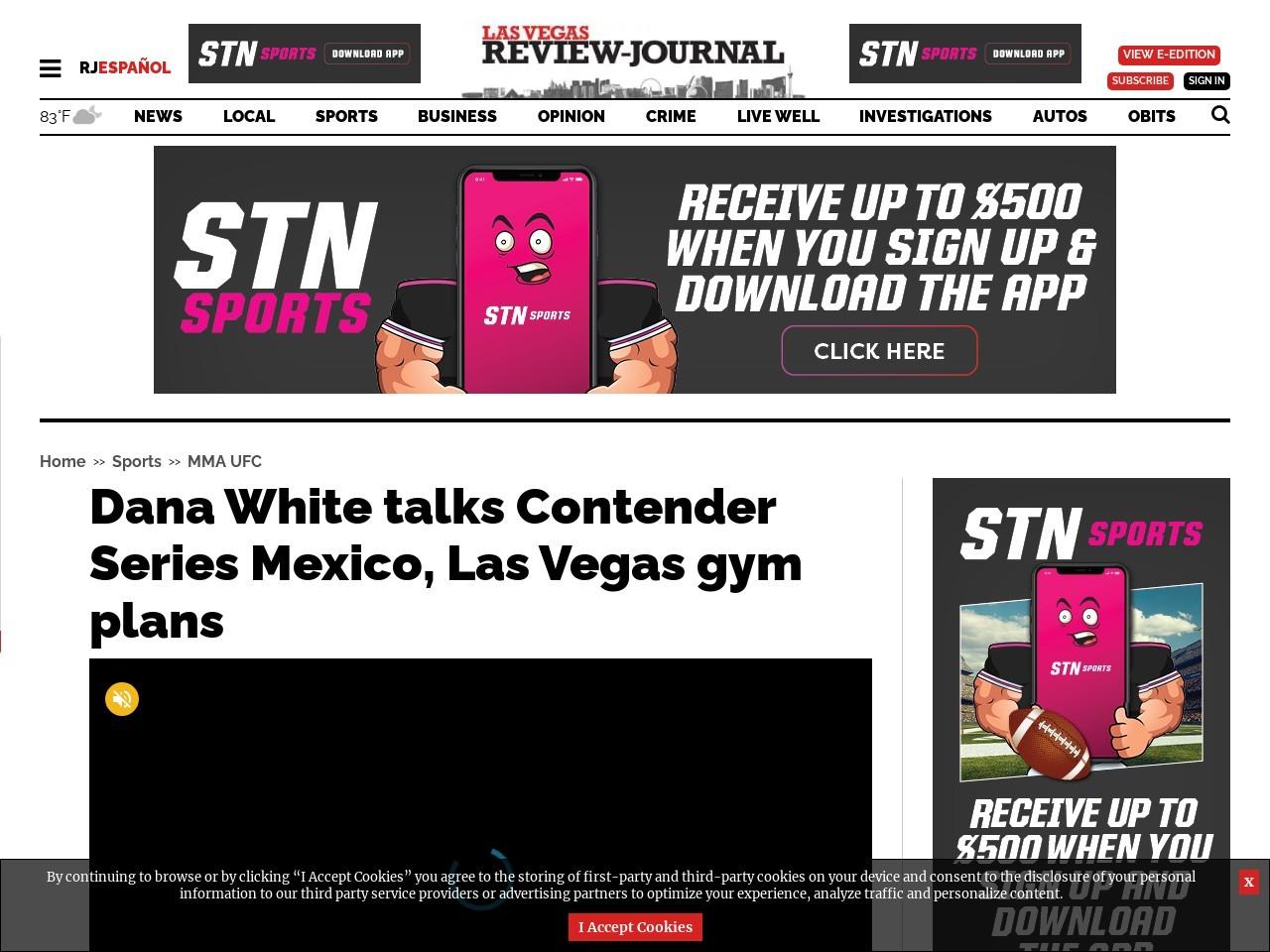 Dana White talks Contender Series Mexico, Las Vegas gym plans