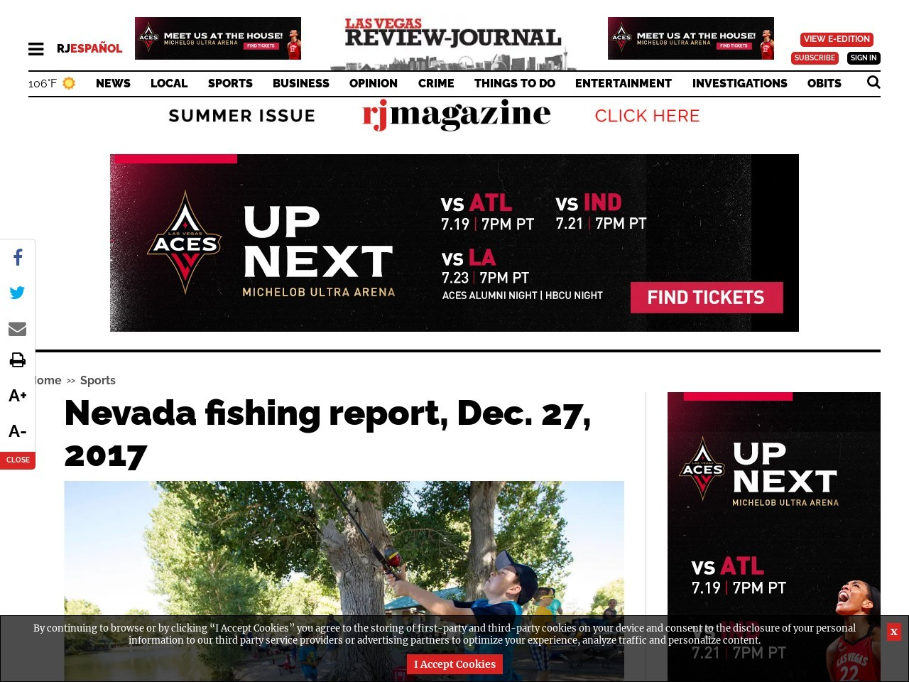 Nevada fishing report, Dec. 27, 2017