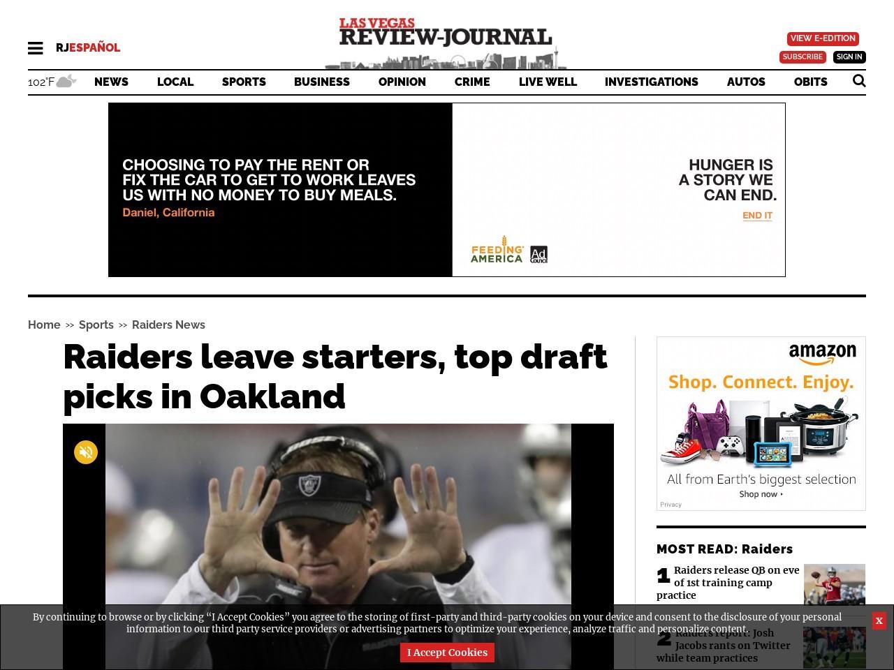 Raiders leave starters, top draft picks in Oakland