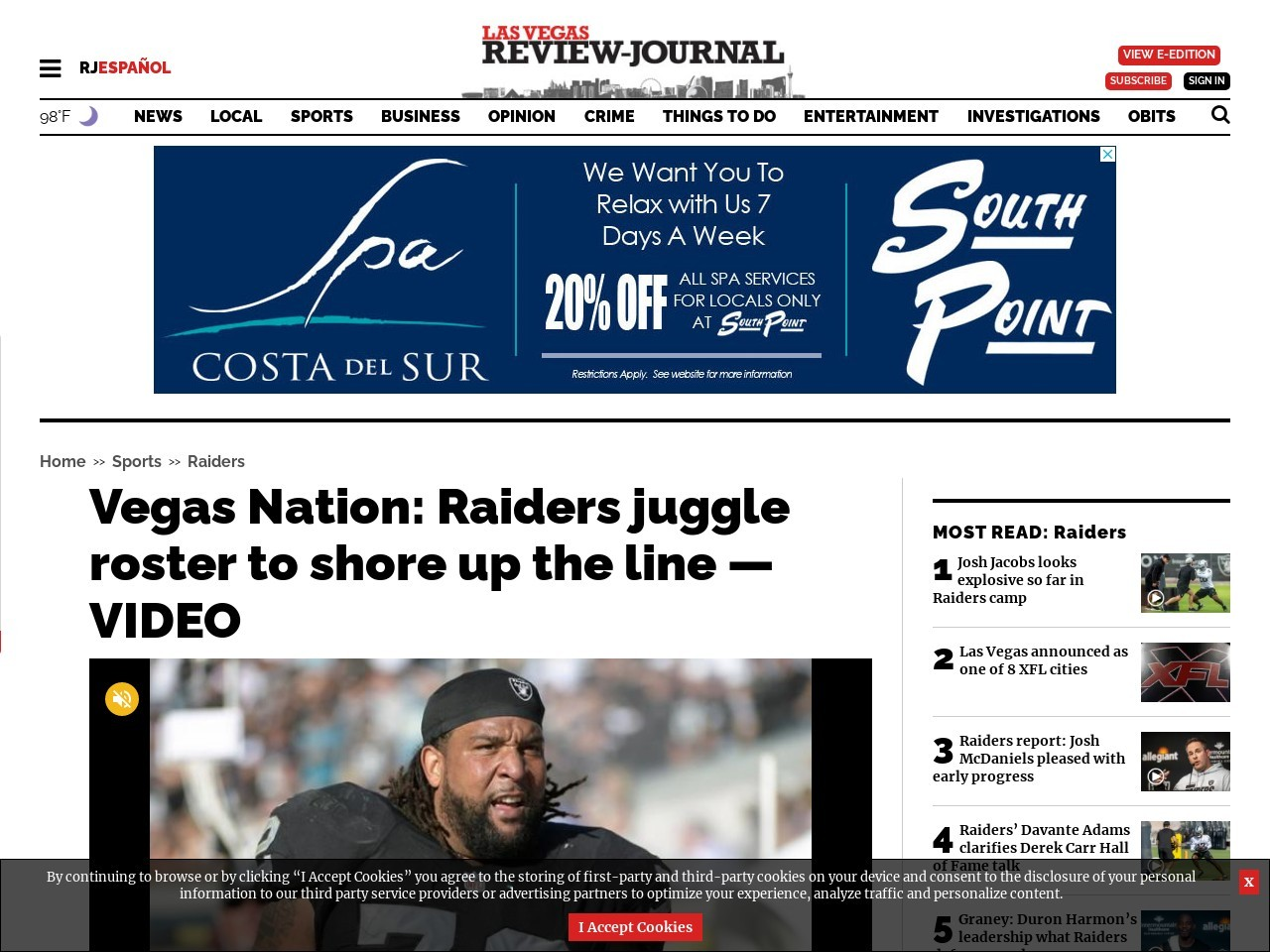 Vegas Nation: Raiders juggle roster to shore up the line — VIDEO