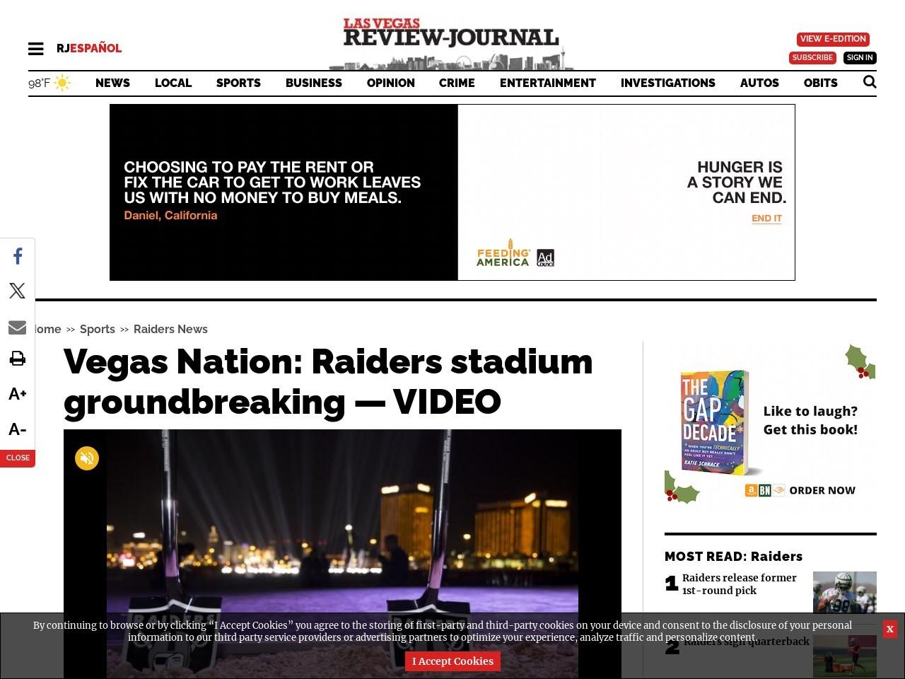 Vegas Nation: Raiders stadium groundbreaking — VIDEO