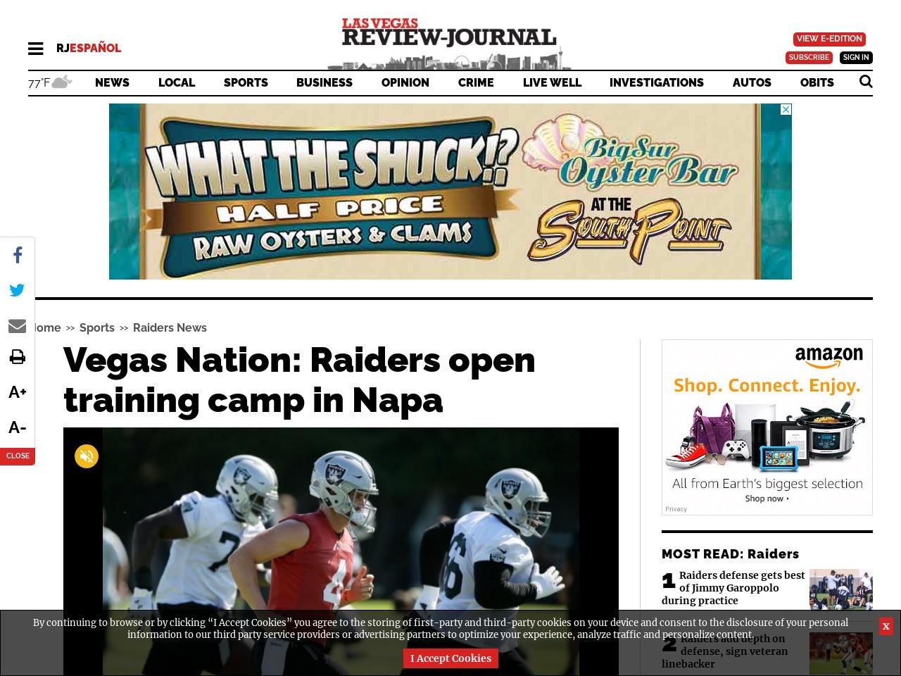Vegas Nation: Raiders training camp day 1 — VIDEO