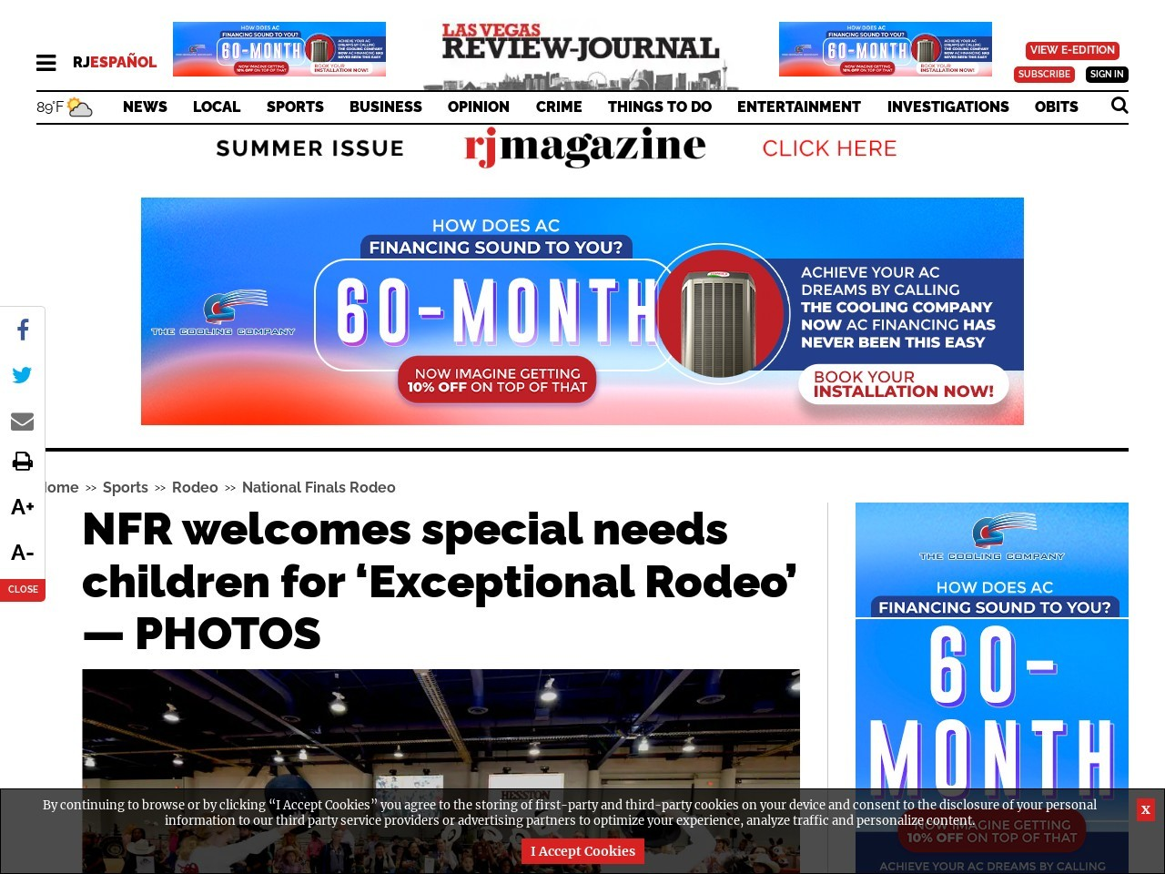 NFR welcomes special needs children for 'Exceptional Rodeo' — PHOTOS