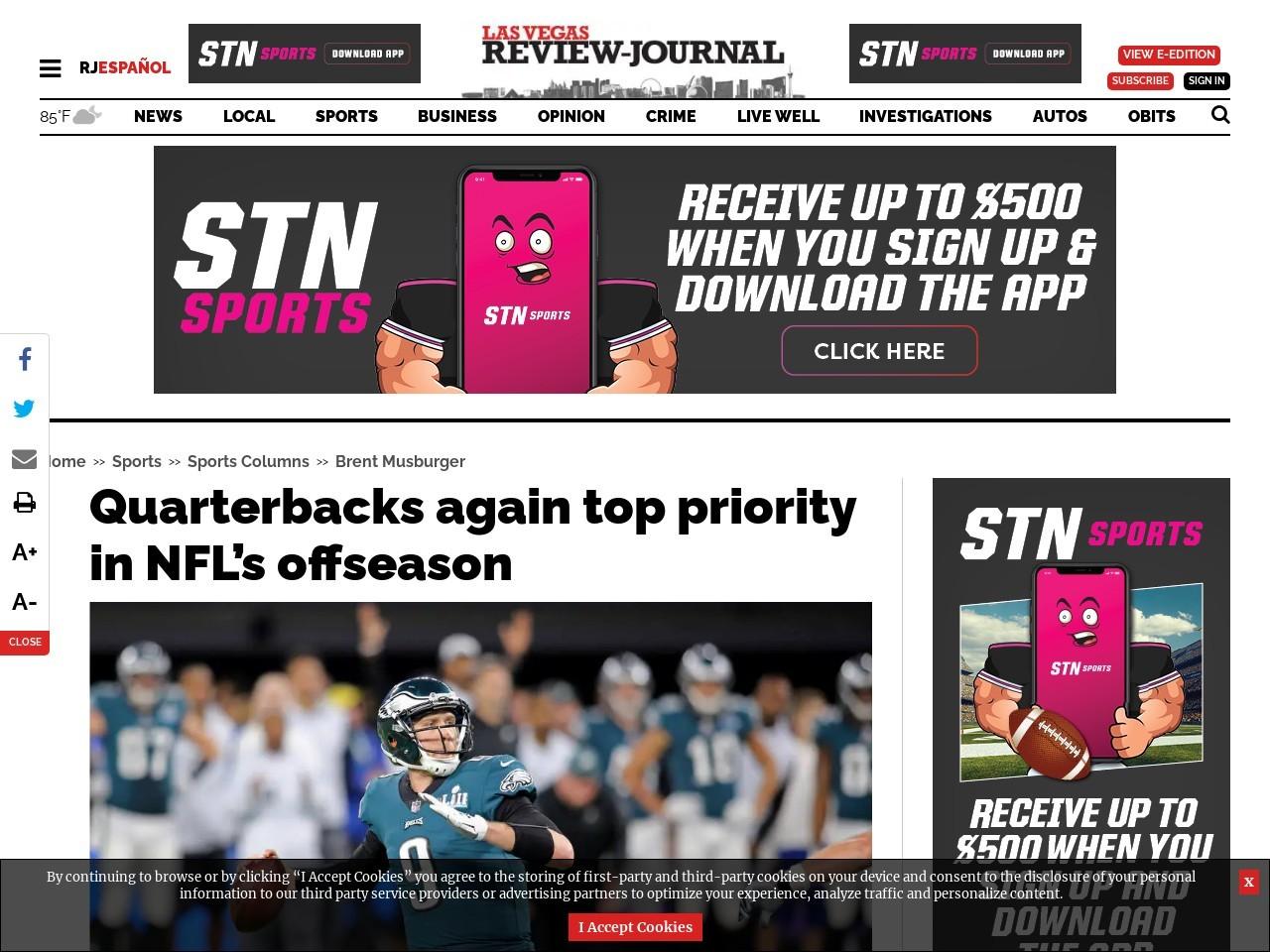 Quarterbacks again top priority in NFL's offseason