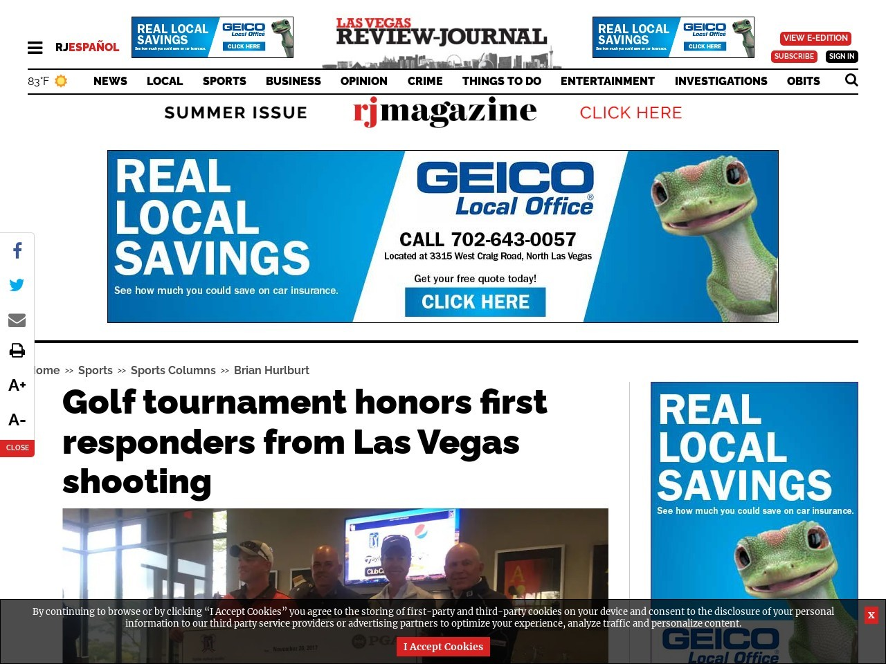 Golf tournament honors first responders from Las Vegas shooting