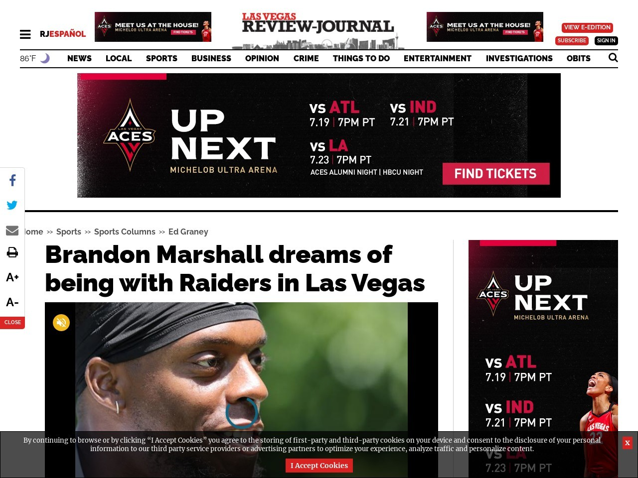 Brandon Marshall dreams of being with Raiders in Las Vegas
