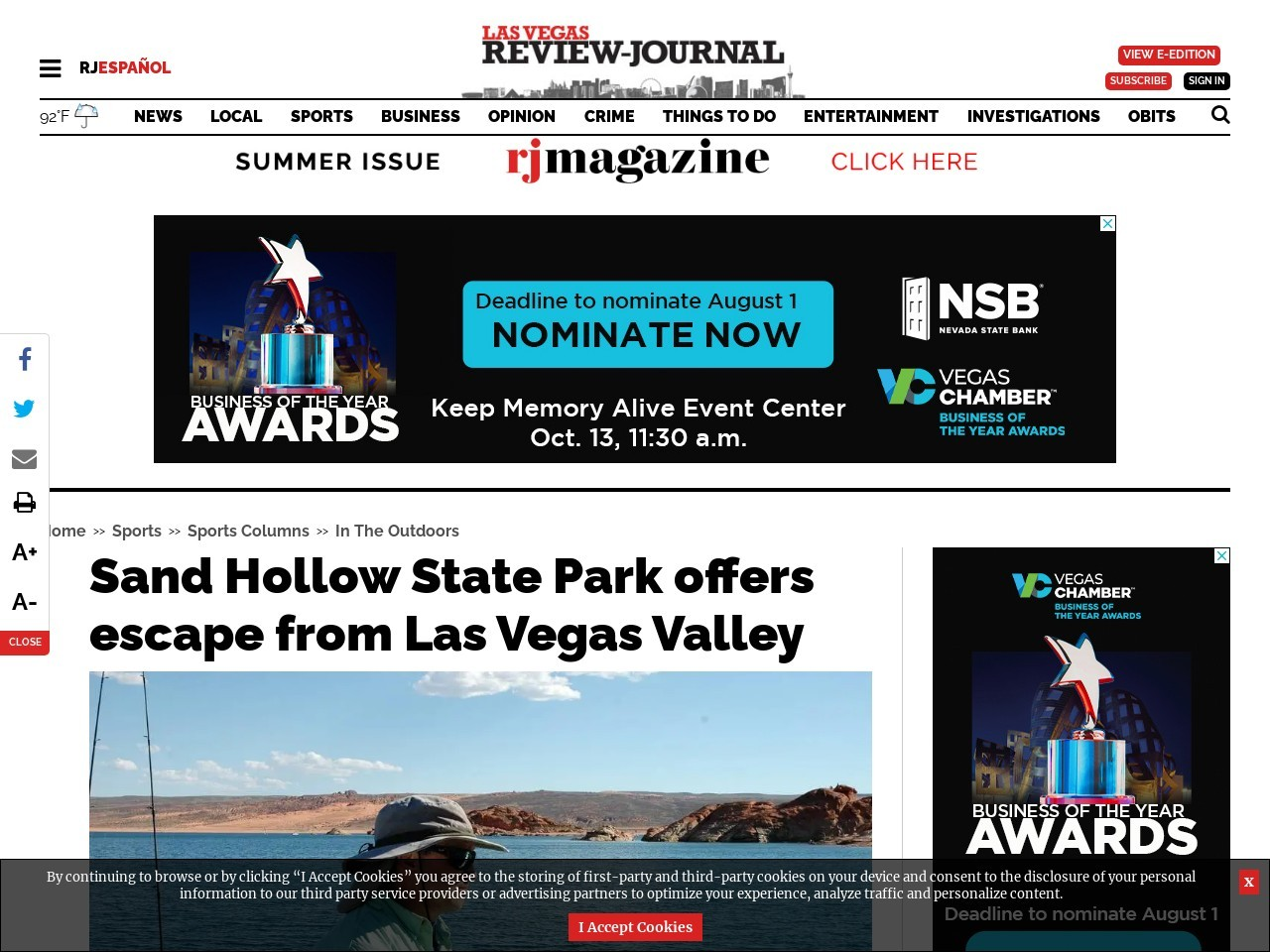 Sand Hollow State Park offers escape from Las Vegas Valley