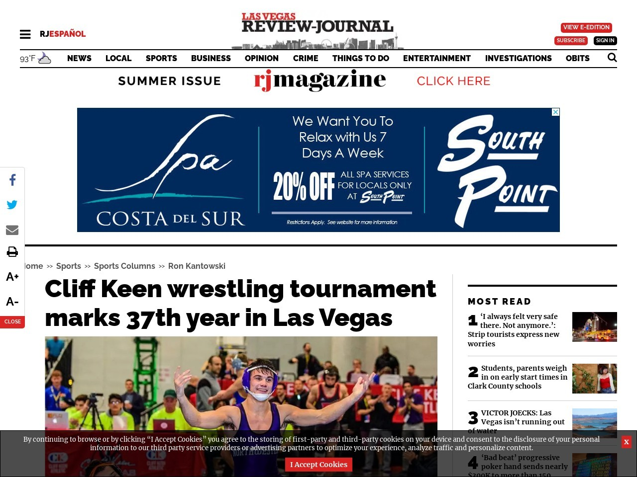 Cliff Keen wrestling tournament marks 37th year in Las Vegas