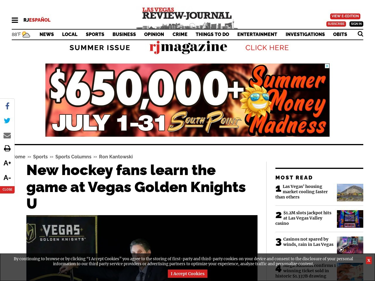 New hockey fans learn the game at Vegas Golden Knights U