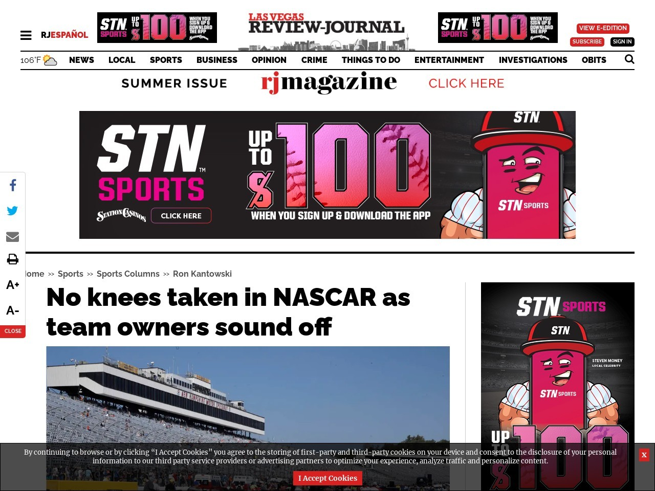 No knees taken in NASCAR as team owners sound off