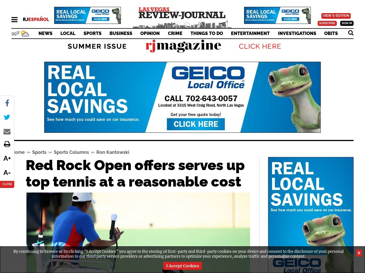 Red Rock Open offers serves up top tennis at a reasonable cost