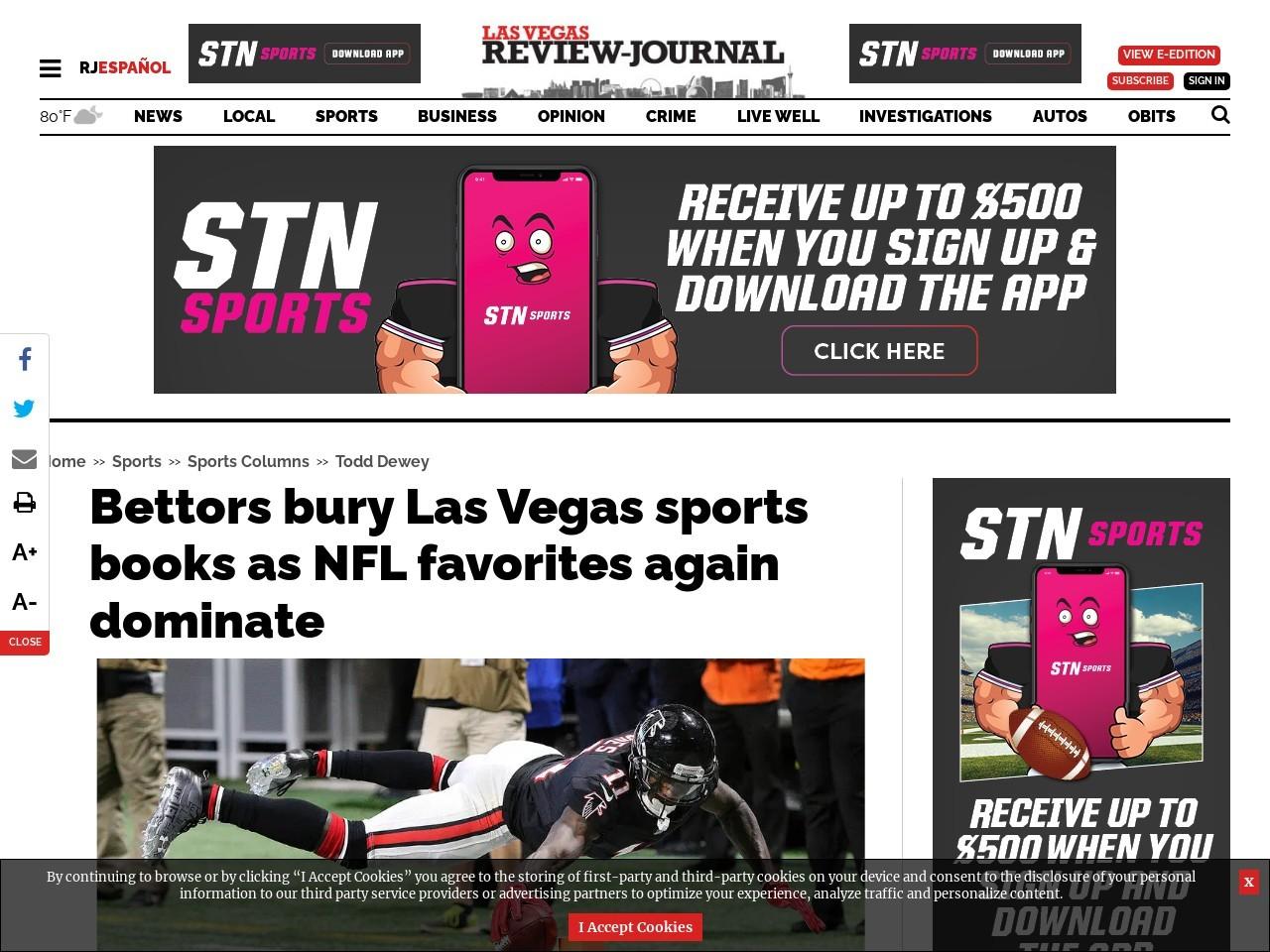 Bettors bury Las Vegas sports books as NFL favorites again dominate