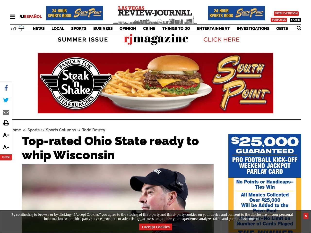 Top-rated Ohio State ready to whip Wisconsin