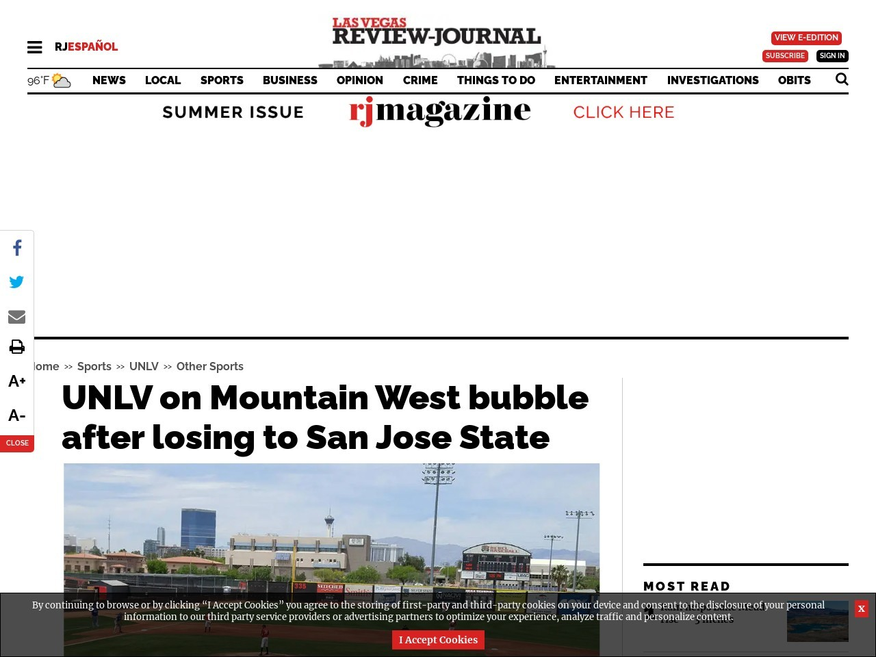 UNLV on Mountain West bubble after losing to San Jose State