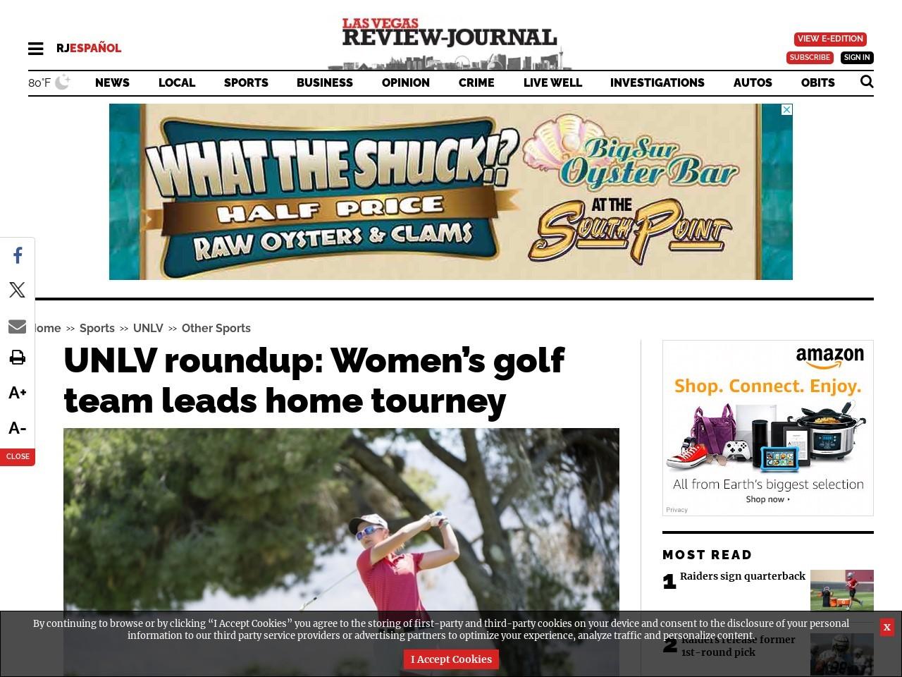 UNLV roundup: Women's golf team leads home tourney