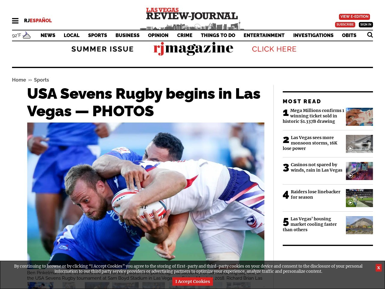 USA Sevens Rugby begins in Las Vegas — PHOTOS