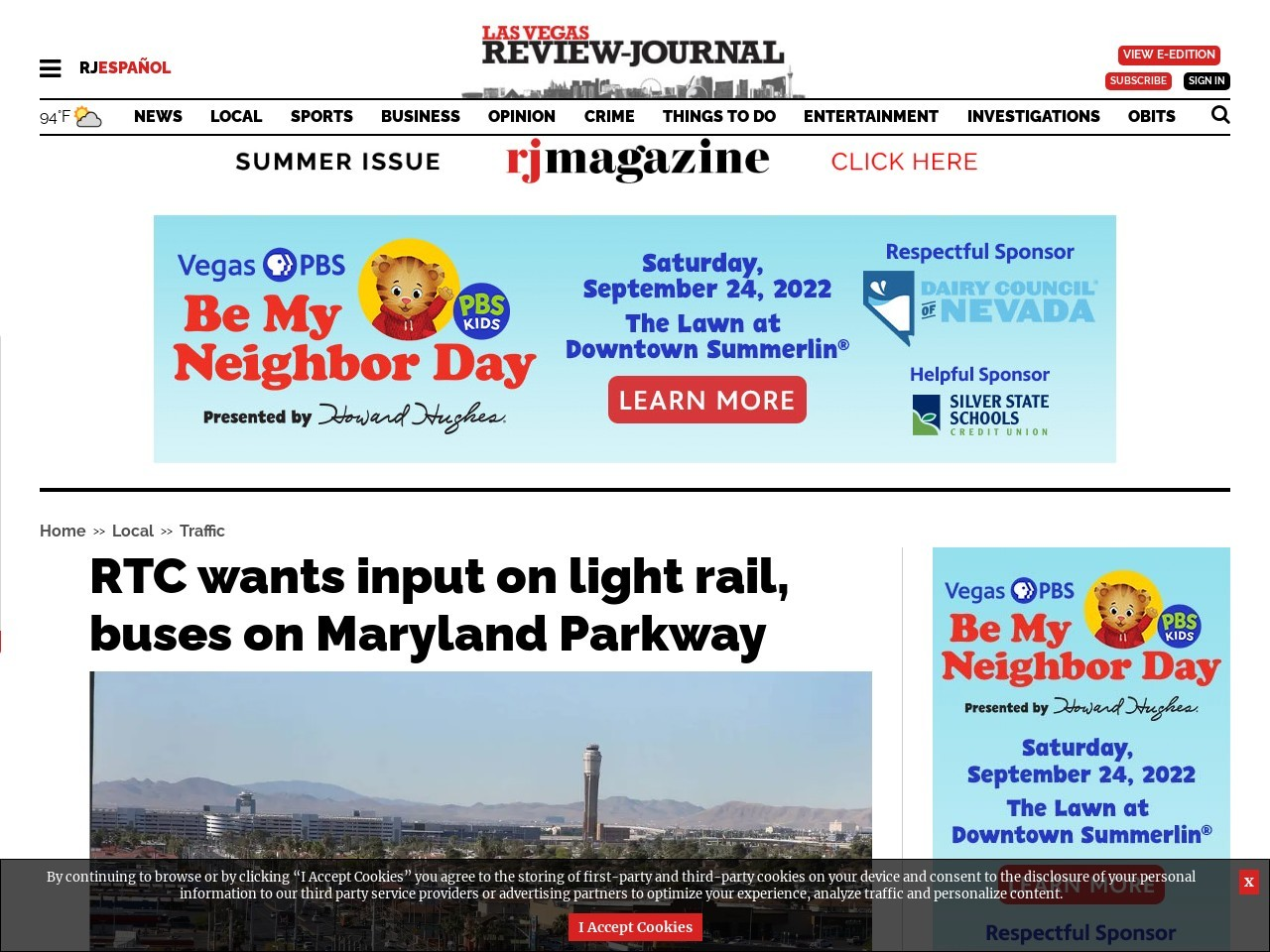 Light rail or buses on Maryland Parkway? RTC wants input